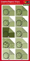 DV94310 Creative papers: Dubbelzijdig patroonpapier A4