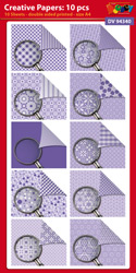 DV94340 Creative papers: 10 sheets double sided patterned papers A4
