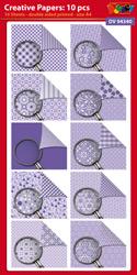 DV94340 Creative papers: Dubbelzijdig patroonpapier A4