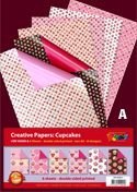DV94500A Cupcake Bumper pack double sided patterned papers A4