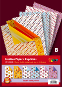 DV94500B Cupcake Bumper pack double sided patterned papers A4