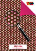 DV94506 Achtergrondvel cupcake bruin en roze