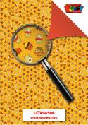 DV94508 Achtergrondvel cupcake geel en oranje