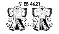 EB4621 borduursticker kimonogroot