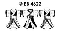 EB4622 borduursticker kimono klein
