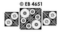 EB4651 borduursticker hoek bloem circel