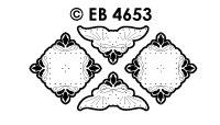 EB4653 borduursticker hoek blad