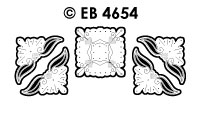 EB4654 borduursticker hoek hartje