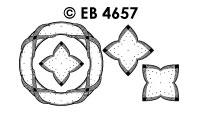 EB4657 borduursticker bloem met touw rond