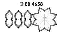 EB4658 borduursticker bloem met touw randje