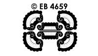 EB4659 borduursticker hoek rand inca