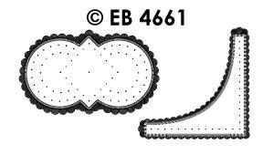 EB4661 borduursticker hoek vierkant & circel