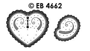EB4662 borduursticker hoek hart & krul