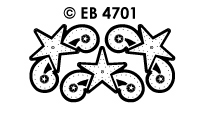 EB4701 borduursticker ster hoek