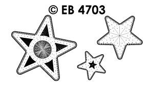 EB4703 borduursticker kerst sterren