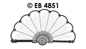 EB4851 borduursticker waaier