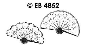 EB4852 borduursticker waaier smal