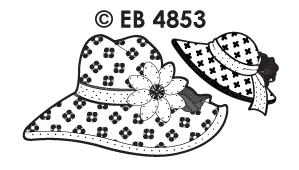 EB4853 borduursticker hoed bloem