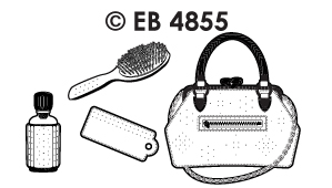 EB4855 borduursticker handtasjes