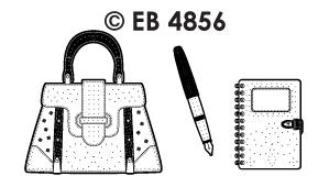 EB4856 borduursticker tasjes kantoor