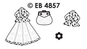 EB4857 borduursticker ballroomjurken
