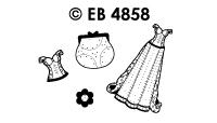 EB4858 borduursticker gala jurken