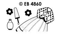 EB4860 borduursticker jurk met nagellak