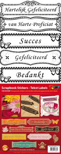GS651049 Scrapbook stickers diverse Nederlands teksten
