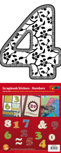 GS651554 Scrapbook stickers 123 floral Cijfers
