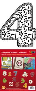 GS651554 Scrapbook stickers 123 floral Cijfers