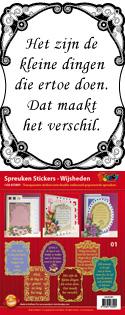 GS651801 Scrapbook stickers Spreuken Wijsheden