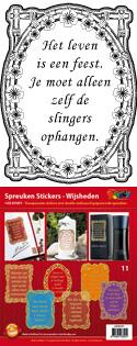GS651811 Scrapbook stickers Spreuken Wijsheden