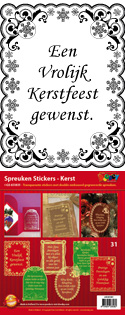 GS651831 Scrapbook stickers Spreuken Kerst
