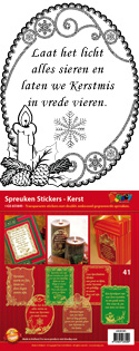 GS651841 Scrapbook stickers Spreuken Kerst