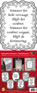 GS651851 Scrapbook stickers Spreuken Condoleance