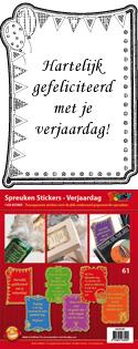 GS651861 Scrapbook stickers Spreuken Verjaardag