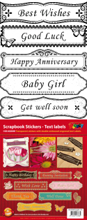 GS652049 Scrapbook stickers English text