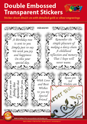 GS652101 Scrapbook stickers English text