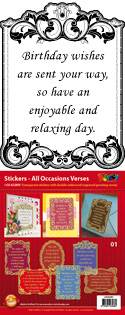 GS652801 Scrapbook stickers All Occasions Verses