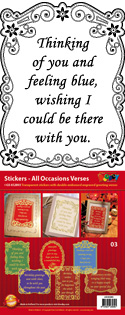 GS652803 Scrapbook stickers All Occasions Verses