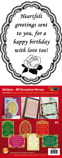 GS652805 Scrapbook stickers Engelse spreuken