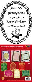 GS652805 Scrapbook stickers Engelse spreuken
