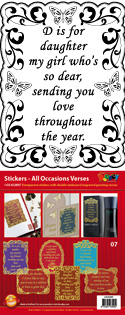GS652807 Scrapbook stickers All Occasions Verses