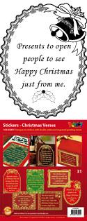 GS652831 Scrapbook stickers Christmas Verses