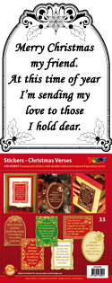 GS652833 Scrapbook stickers Christmas Verses