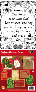 GS652835 Scrapbook stickers Engelse spreuken