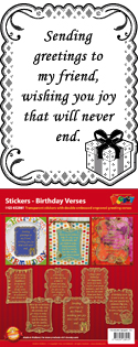 GS652861 Scrapbook stickers Engelse spreuken