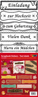 GS653049 Scrapbook stickers duitse teksten