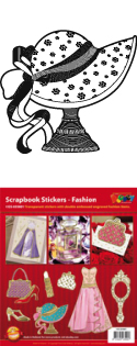 GS655801 Scrapbook stickers Fashion