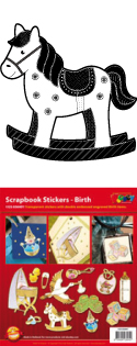 GS656401 Scrapbook stickers geboorte
